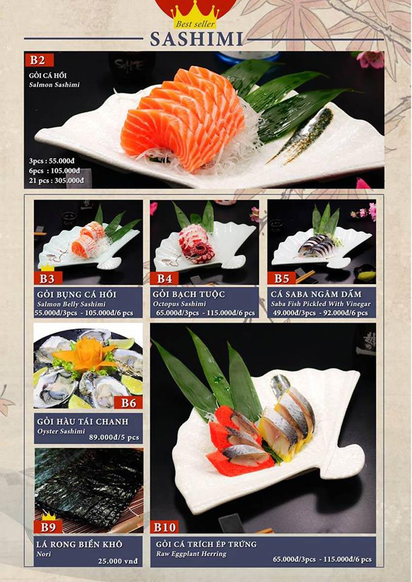 Menu Sio Sushi - Đoàn Trần Nghiệp 5
