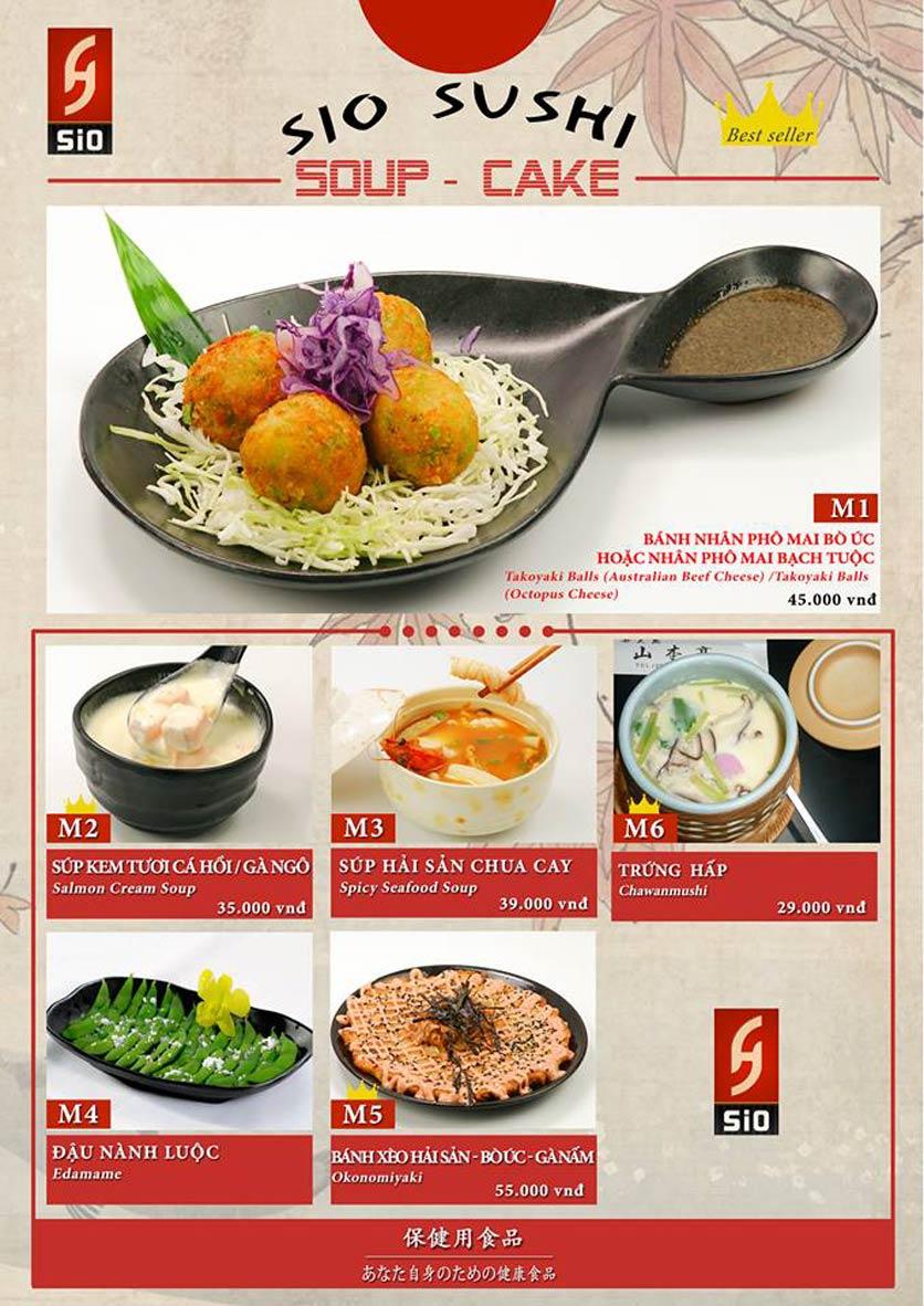 Menu Sio Sushi - Đoàn Trần Nghiệp 6