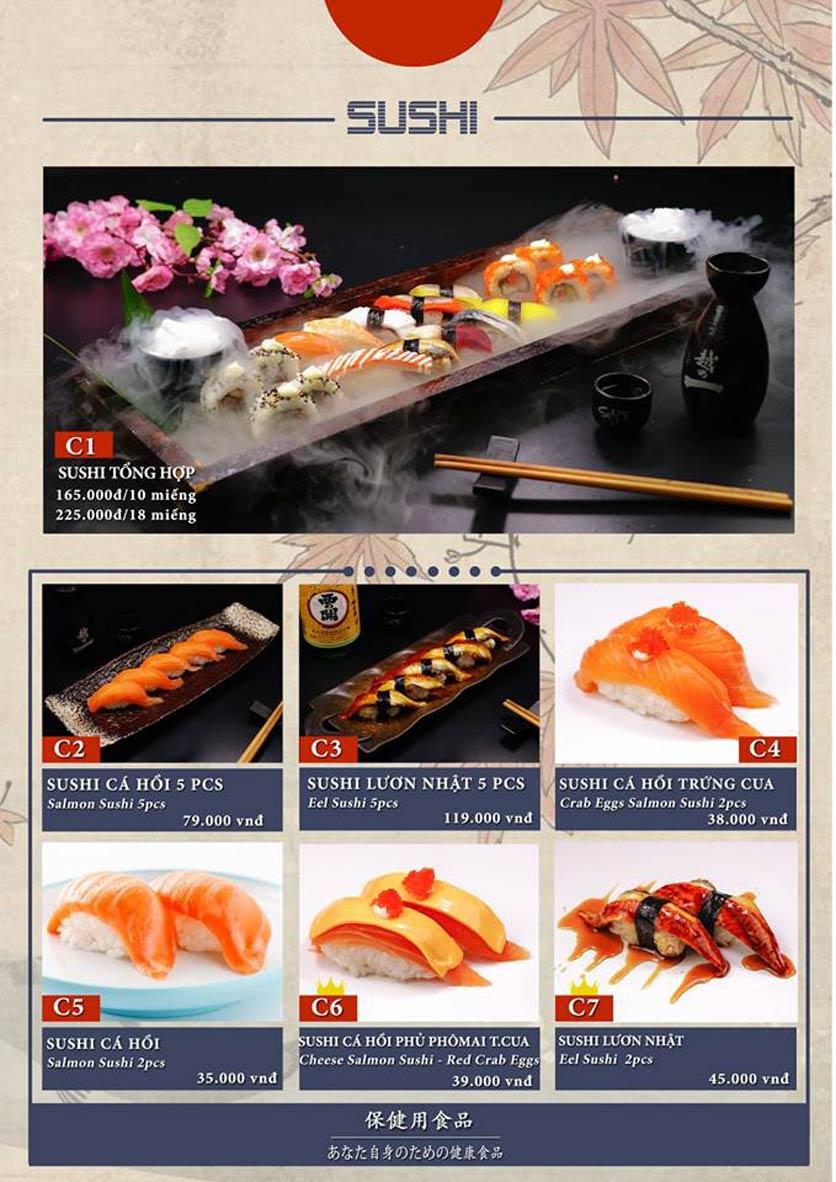 Menu Sio Sushi - Đoàn Trần Nghiệp 7
