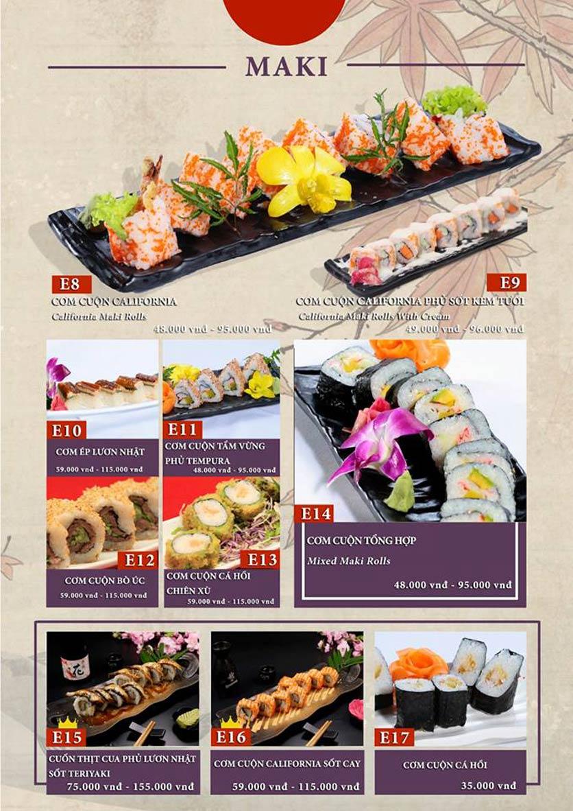 Menu Sio Sushi - Đoàn Trần Nghiệp 10
