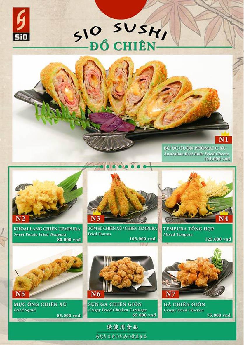 Menu Sio Sushi - Đoàn Trần Nghiệp 13