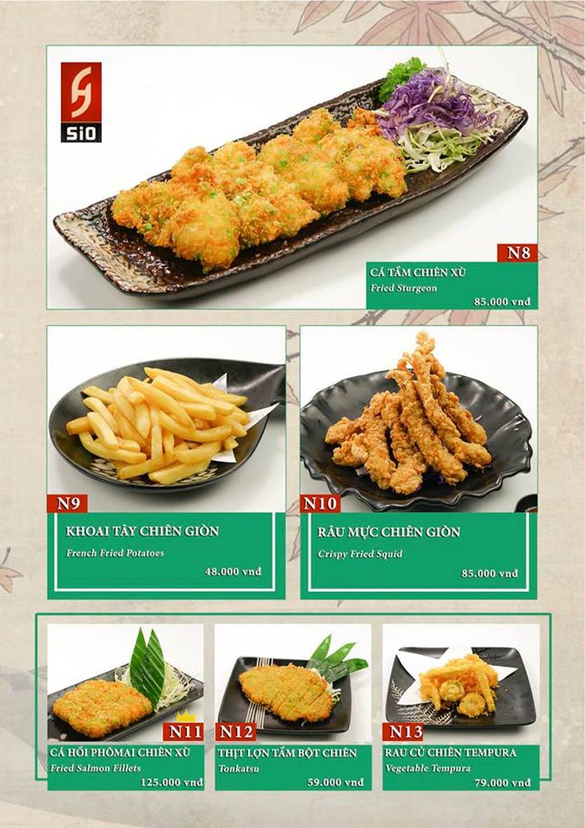 Menu Sio Sushi - Đoàn Trần Nghiệp 14