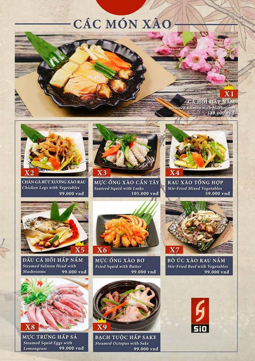 Menu Sio Sushi - Đoàn Trần Nghiệp 15