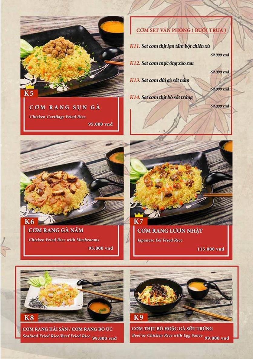 Menu Sio Sushi - Đoàn Trần Nghiệp 18