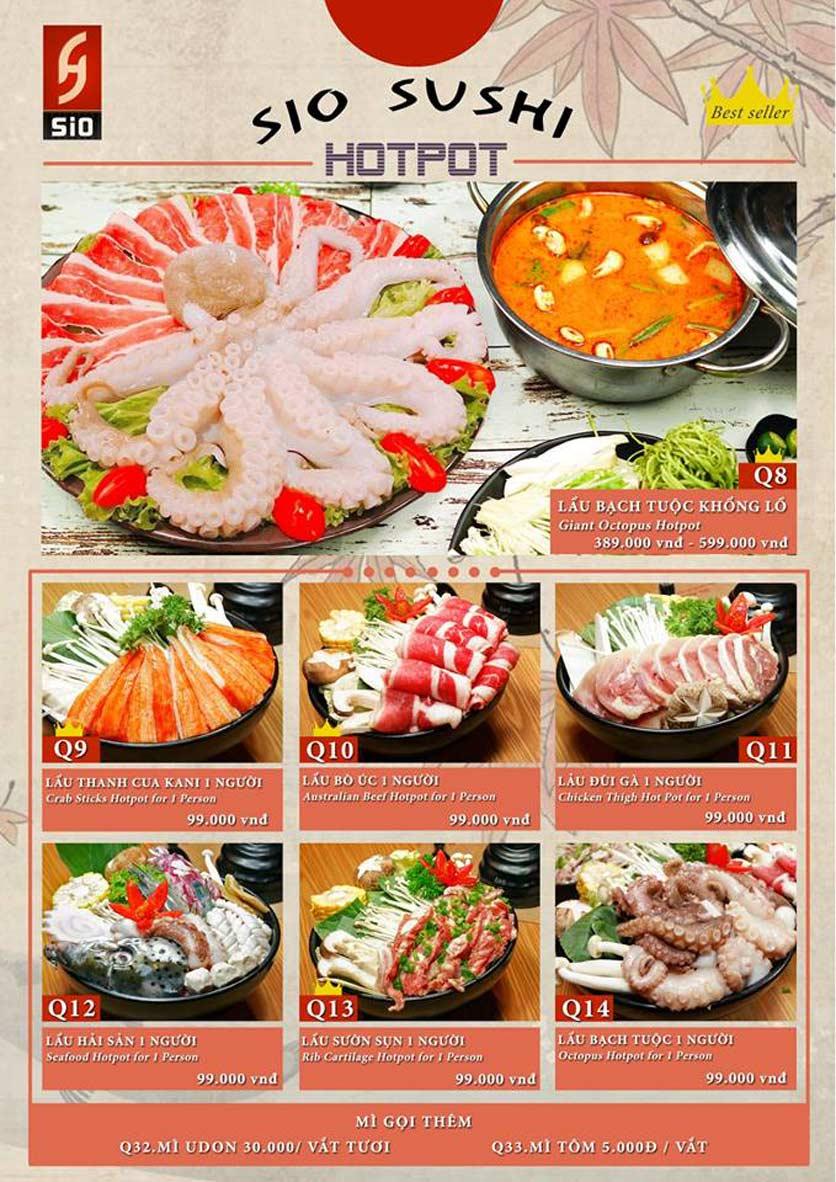 Menu Sio Sushi - Đoàn Trần Nghiệp 21