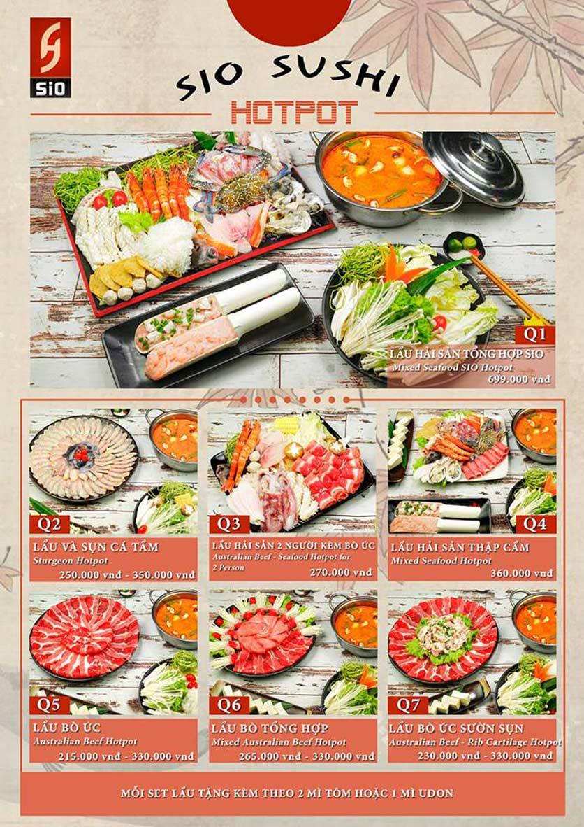 Menu Sio Sushi - Đoàn Trần Nghiệp 22