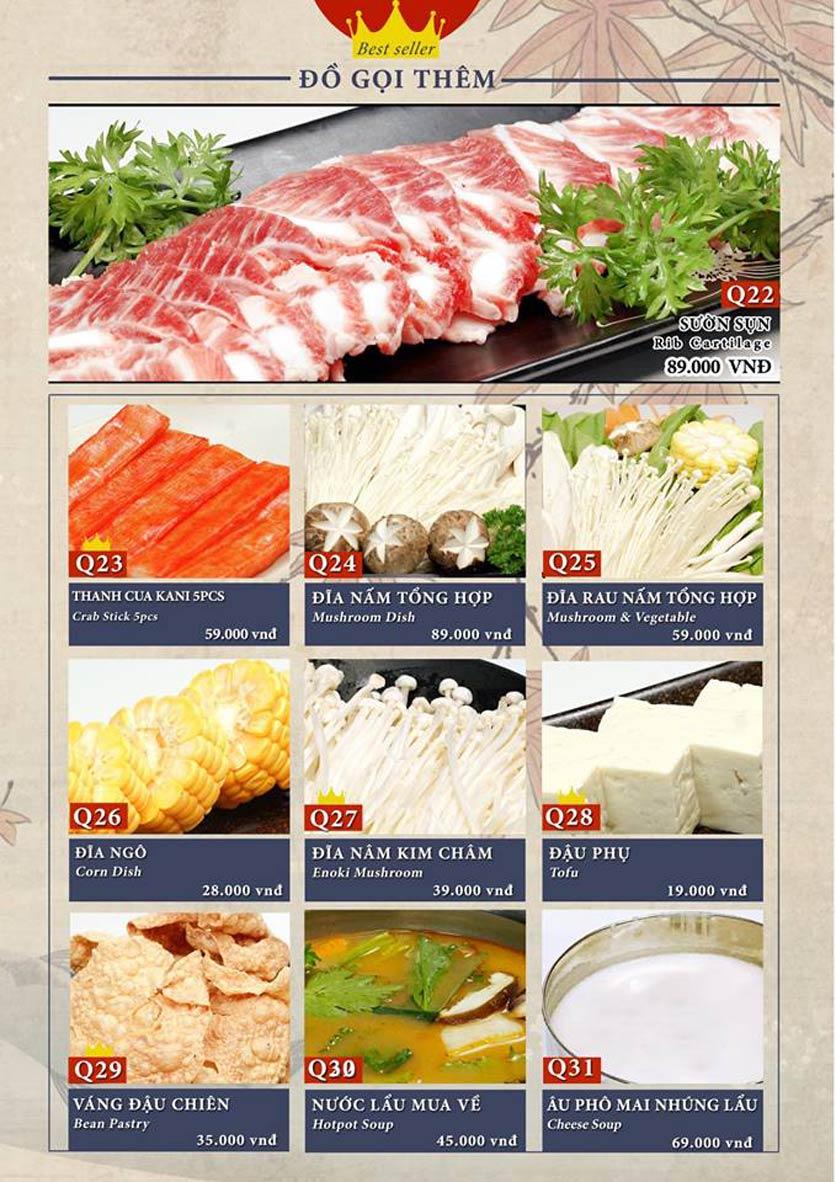 Menu Sio Sushi - Đoàn Trần Nghiệp 24
