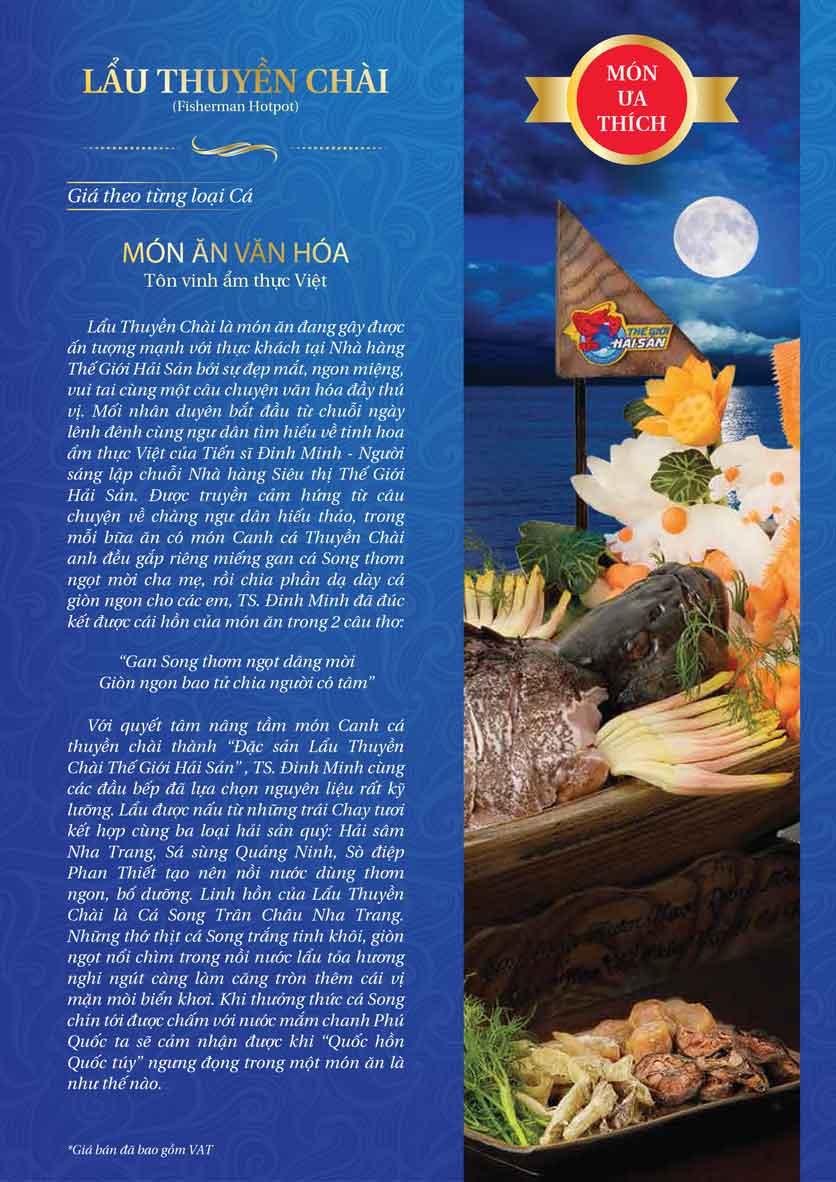 Menu Thế Giới Hải Sản - Thái Thịnh 1