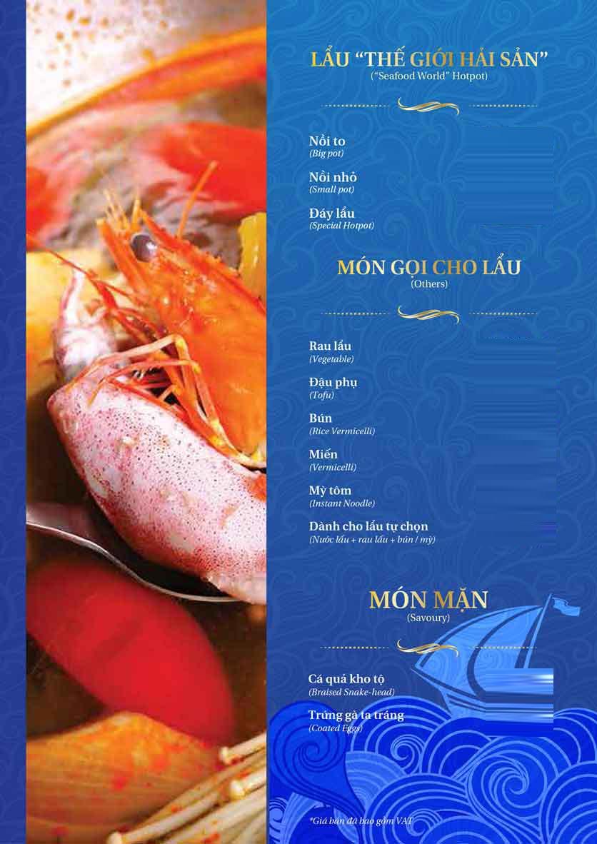 Menu Thế Giới Hải Sản - Thái Thịnh 2