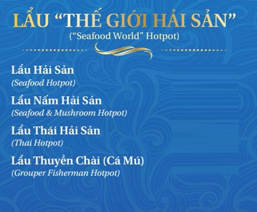 Menu Thế Giới Hải Sản - Thái Thịnh 5