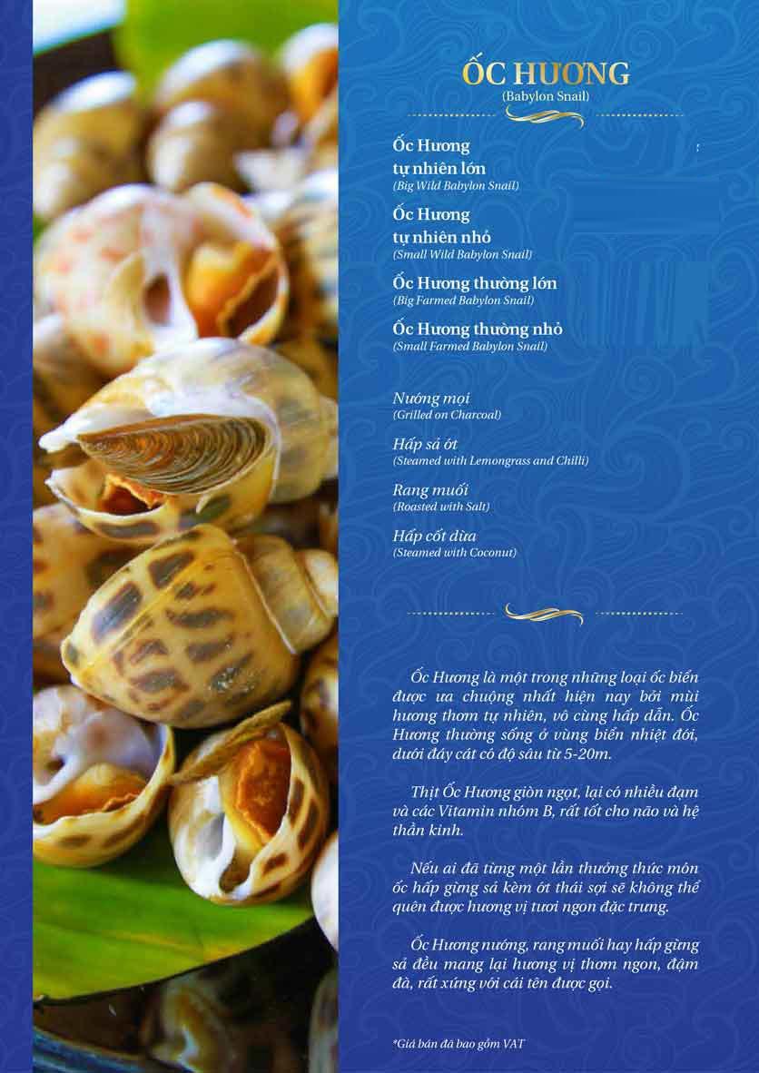 Menu Thế Giới Hải Sản – Pasteur 8