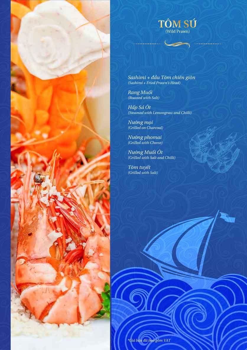 Menu Thế Giới Hải Sản – Pasteur 18