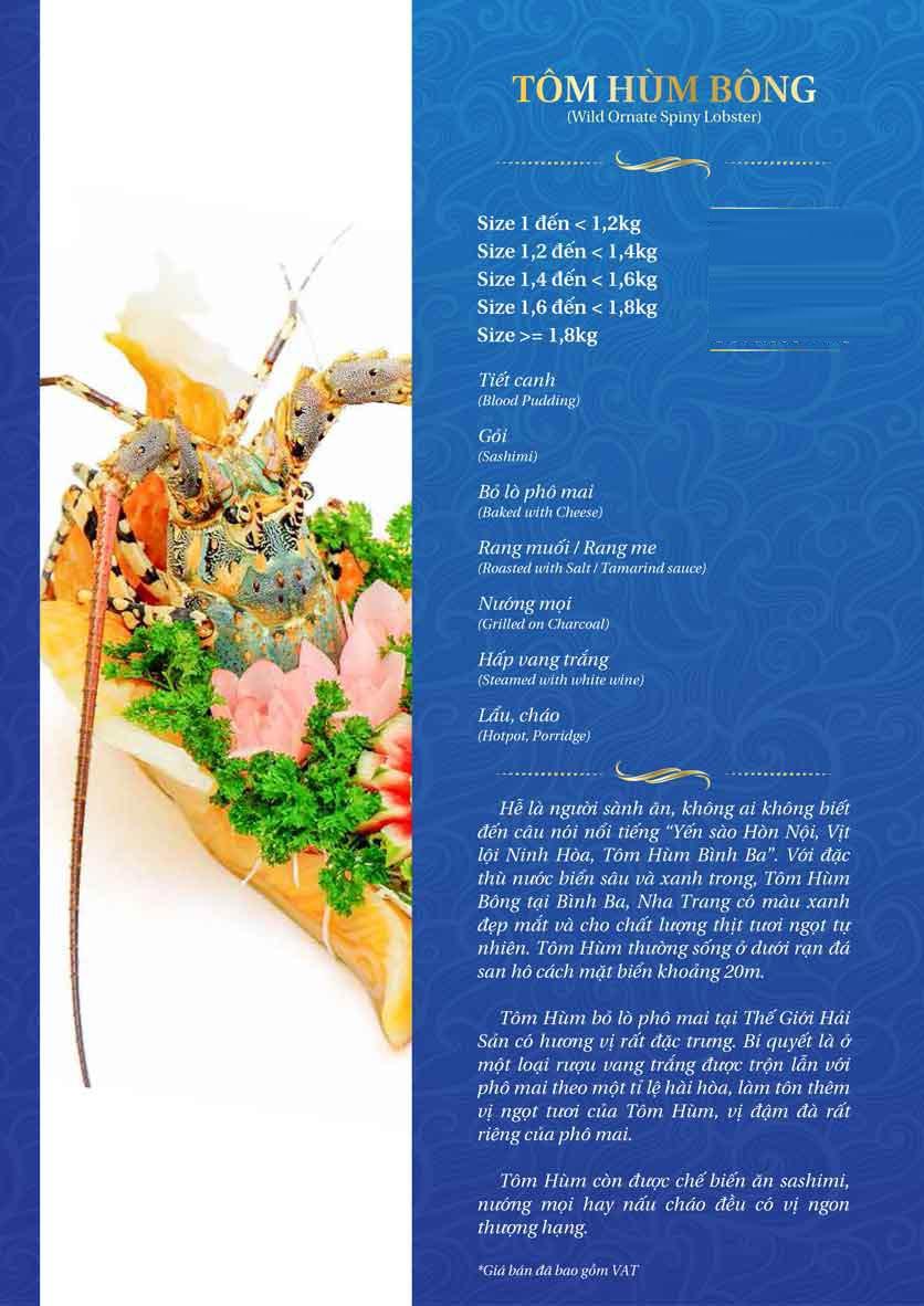 Menu Thế Giới Hải Sản - Thái Thịnh 20