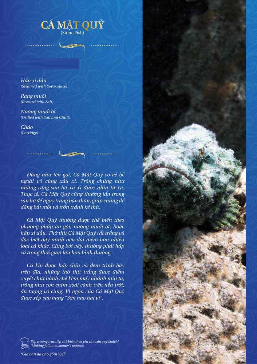 Menu Thế Giới Hải Sản – Pasteur 27