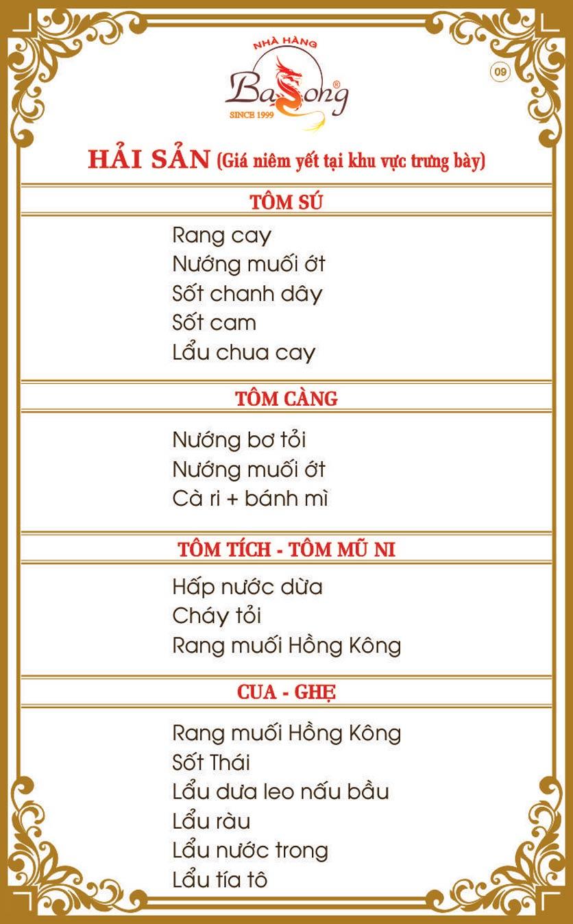 Menu Ba Long – Hồng Đức  10