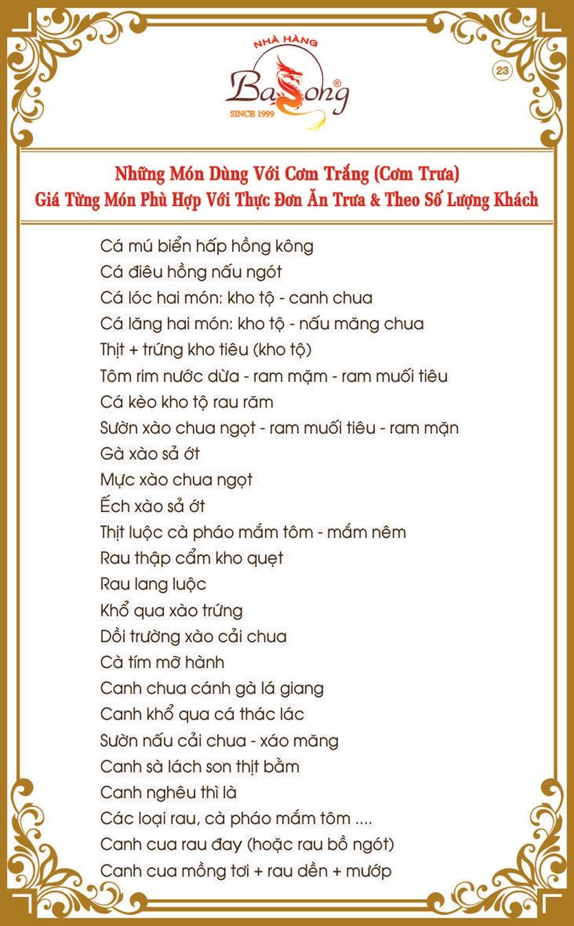 Menu Ba Long – Hồng Đức  24