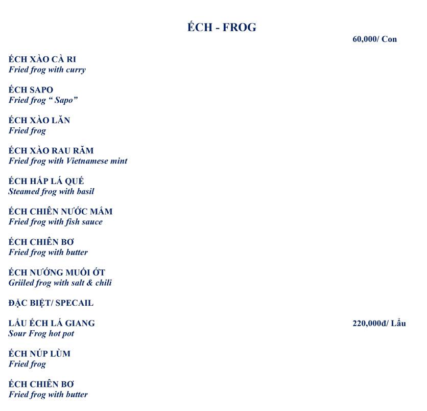 Menu Hải Sản Biển Đông 8 – Phổ Quang 11