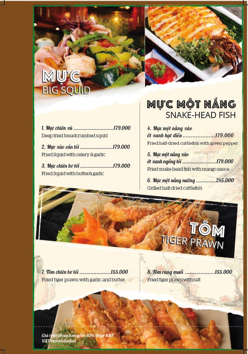 Menu Bồng Lai Tửu Quán - Triệu Việt Vương 7