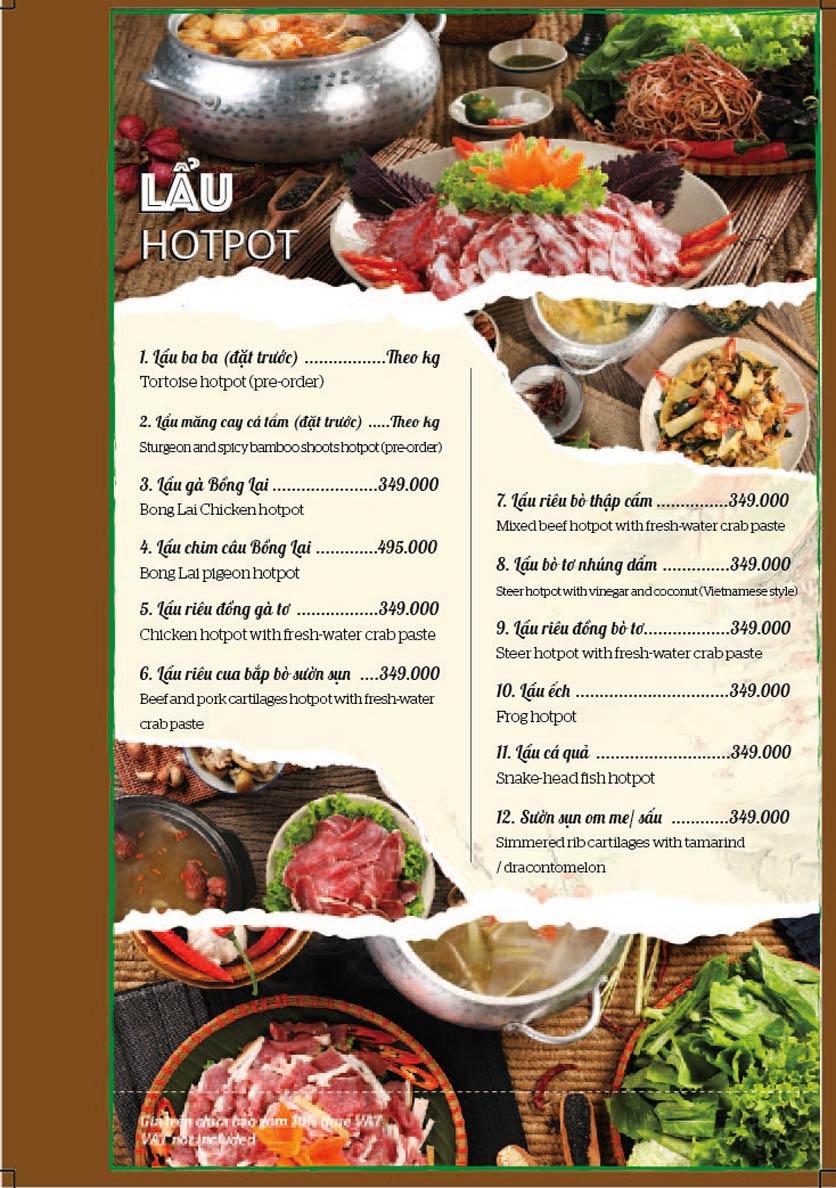 Menu Bồng Lai Tửu Quán - Triệu Việt Vương 11