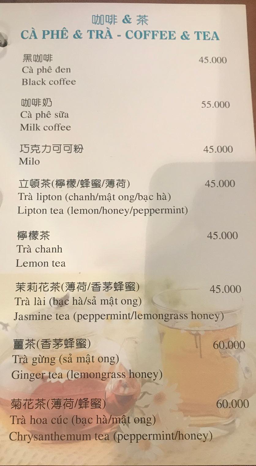 Menu Boss Karaoke & Restaurant – Trung Sơn 15