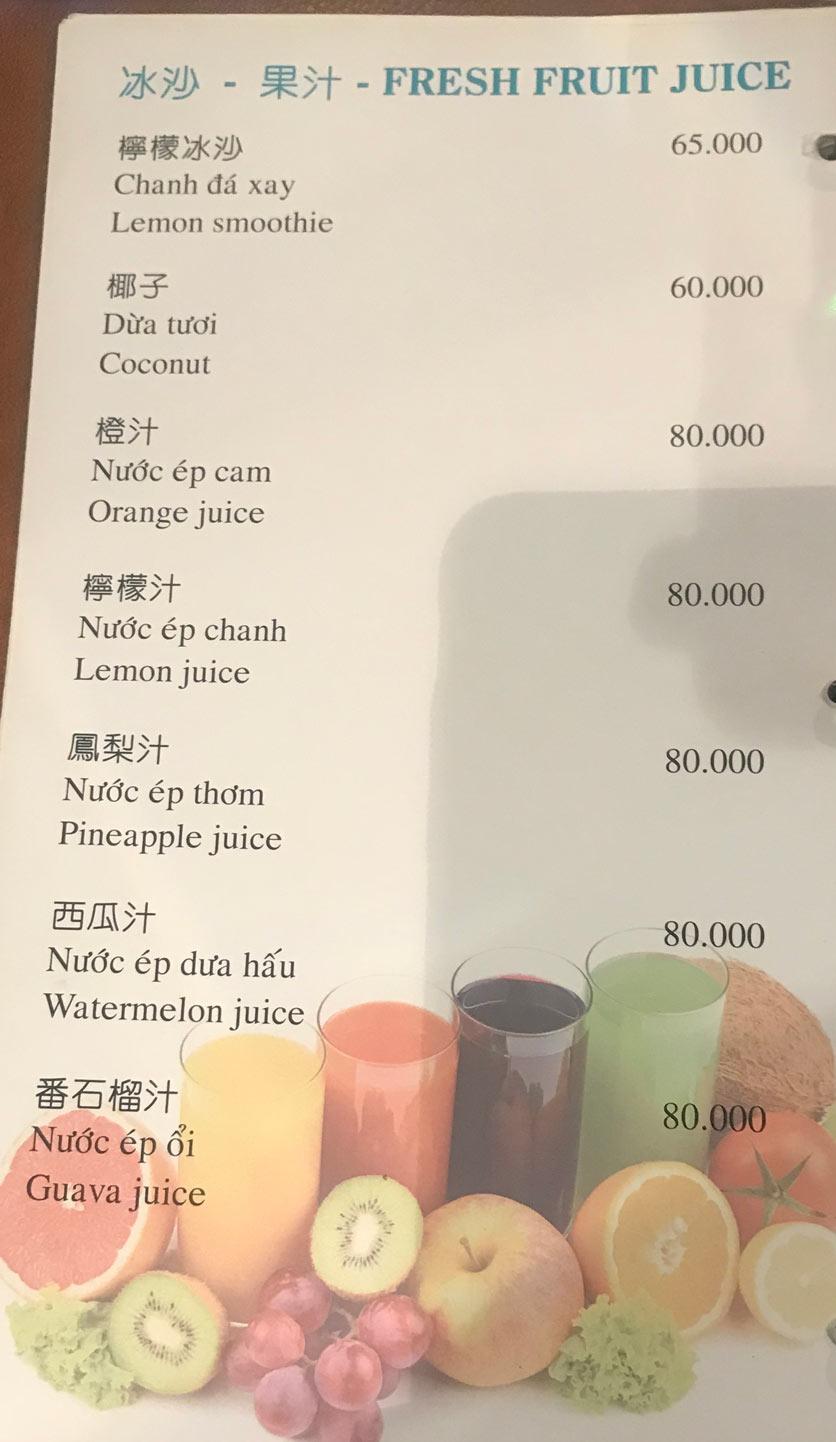 Menu Boss Karaoke & Restaurant – Trung Sơn 16