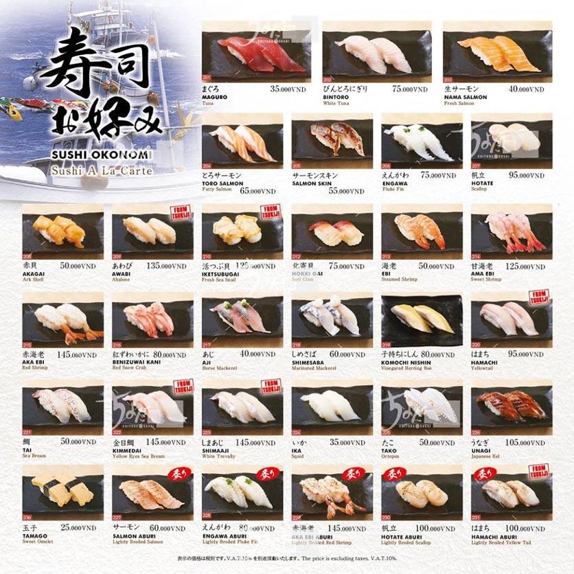 Menu Chiyoda Sushi - Pasteur 13