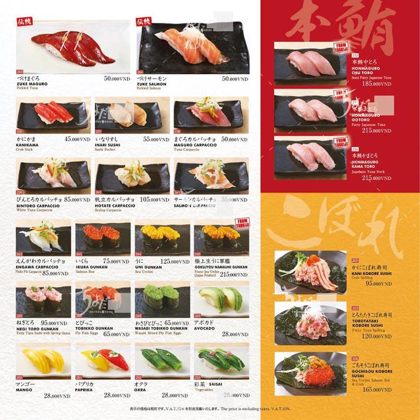 Menu Chiyoda Sushi - Pasteur 14