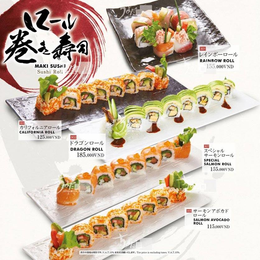 Menu Chiyoda Sushi - Pasteur 15