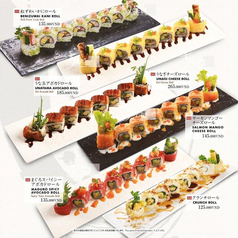 Menu Chiyoda Sushi - Pasteur 16