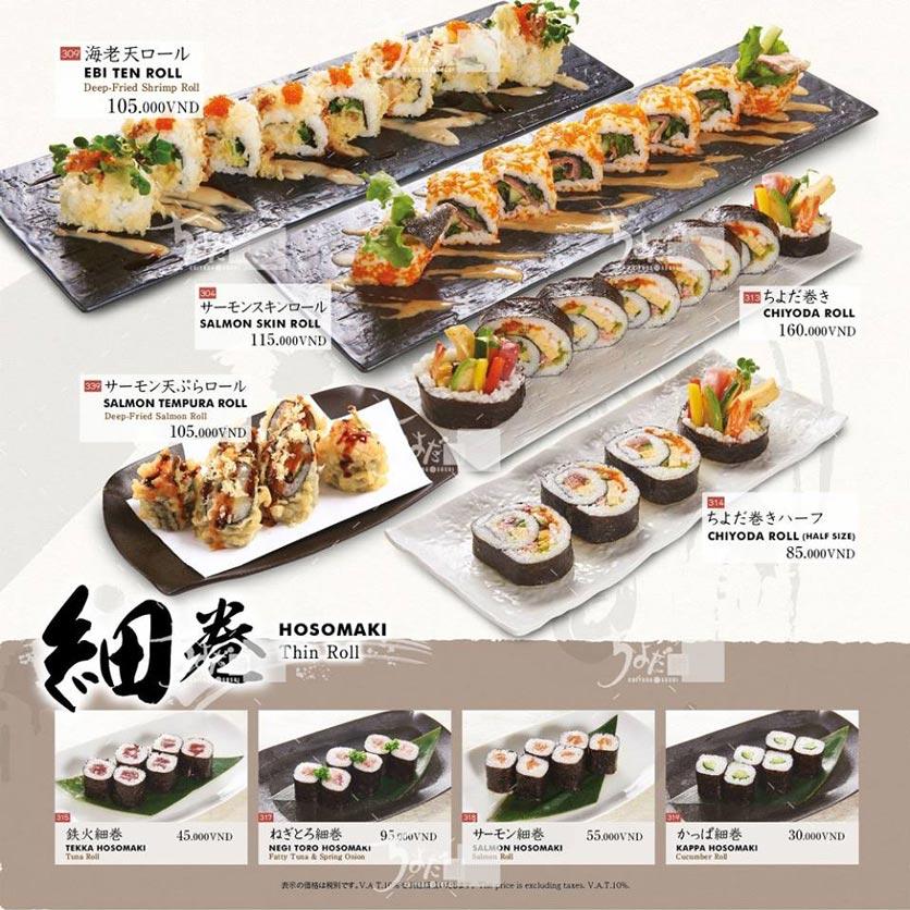 Menu Chiyoda Sushi - Pasteur 17