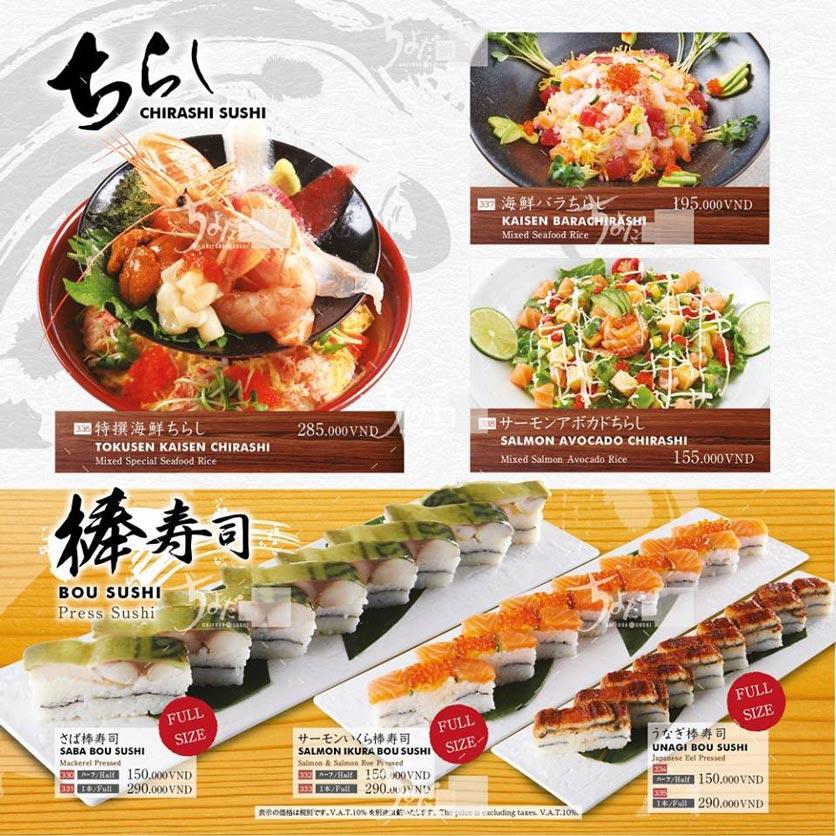 Menu Chiyoda Sushi - Pasteur 18