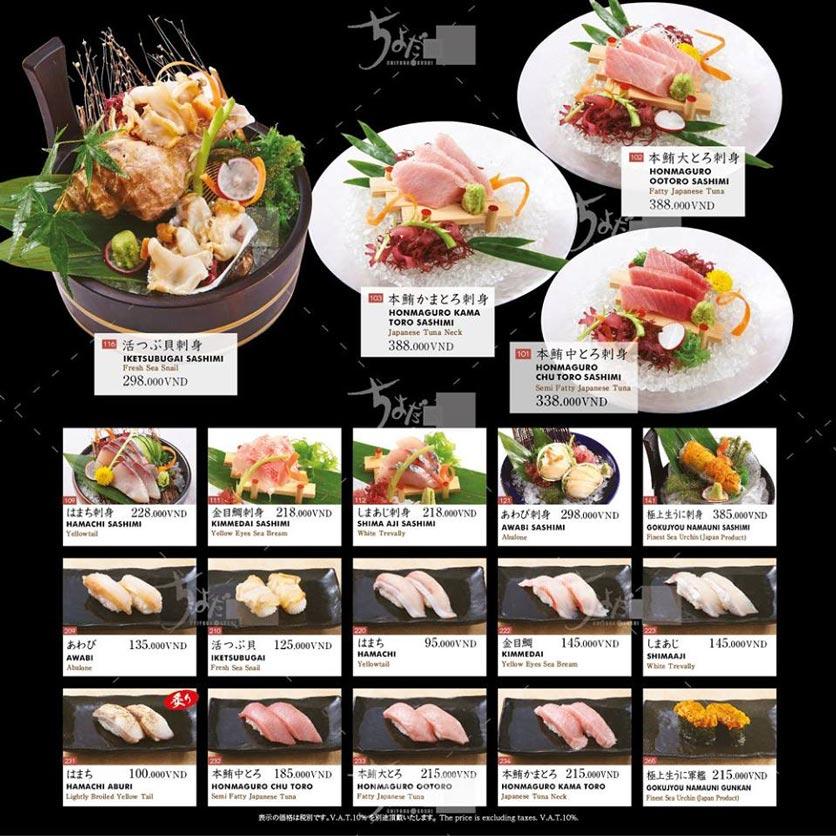 Menu Chiyoda Sushi - Pasteur 20
