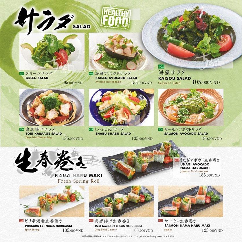 Menu Chiyoda Sushi - Pasteur 24