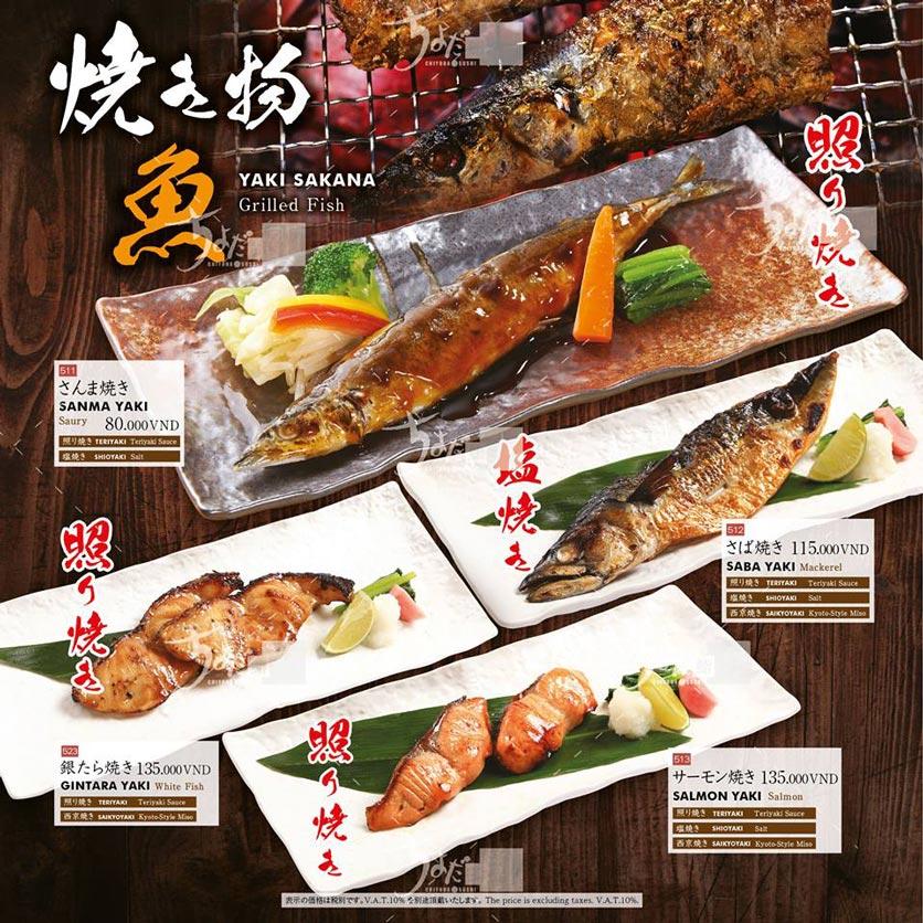 Menu Chiyoda Sushi - Pasteur 25