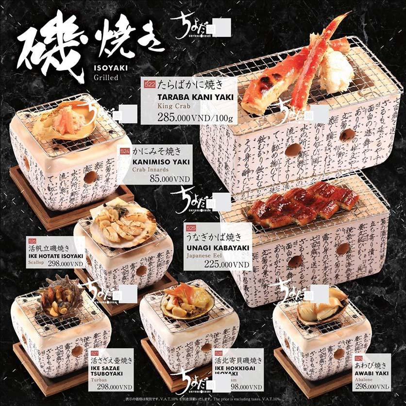 Menu Chiyoda Sushi - Pasteur 27