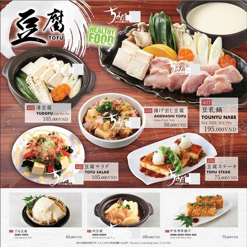 Menu Chiyoda Sushi - Pasteur 28