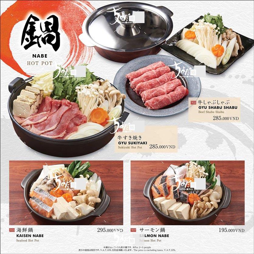 Menu Chiyoda Sushi - Pasteur 31