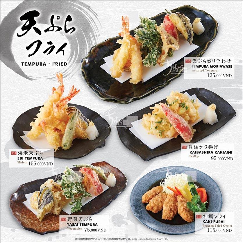 Menu Chiyoda Sushi - Pasteur 33