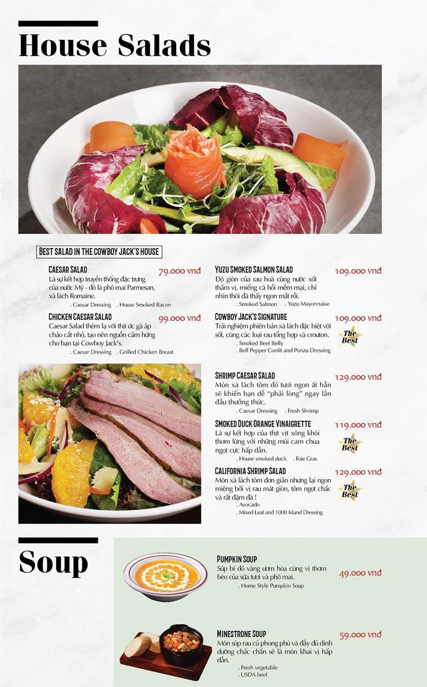 Menu Cowboy Jack's American Dining - TTTM Saigon Centre 1