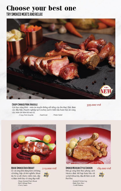 Menu Cowboy Jack's American Dining - TTTM Saigon Centre 6