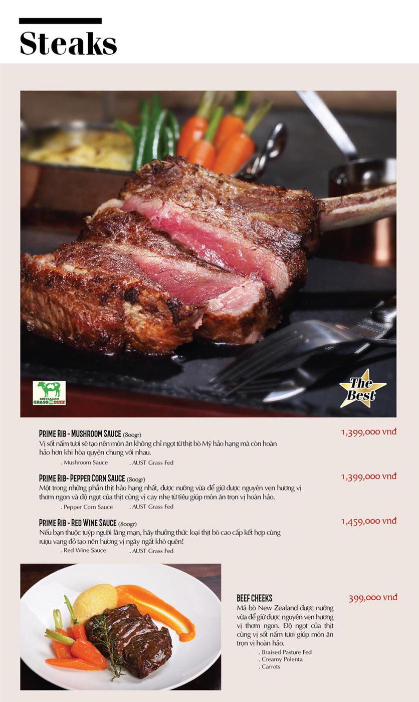 Menu Cowboy Jack's American Dining - TTTM Saigon Centre 7