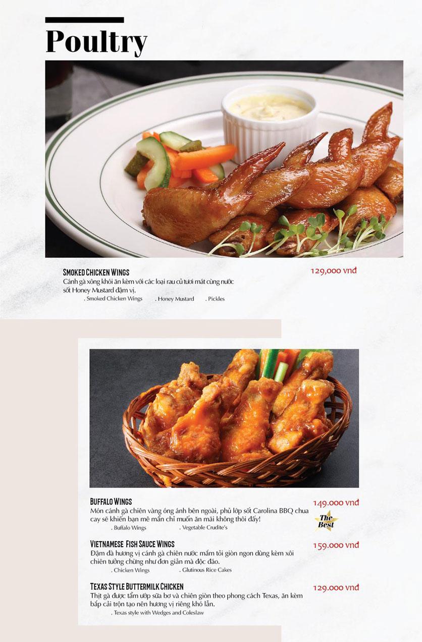 Menu Cowboy Jack's American Dining - TTTM Saigon Centre 10