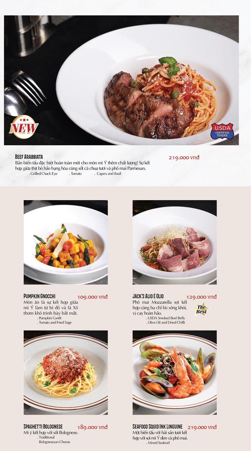Menu Cowboy Jack's American Dining - TTTM Saigon Centre 16