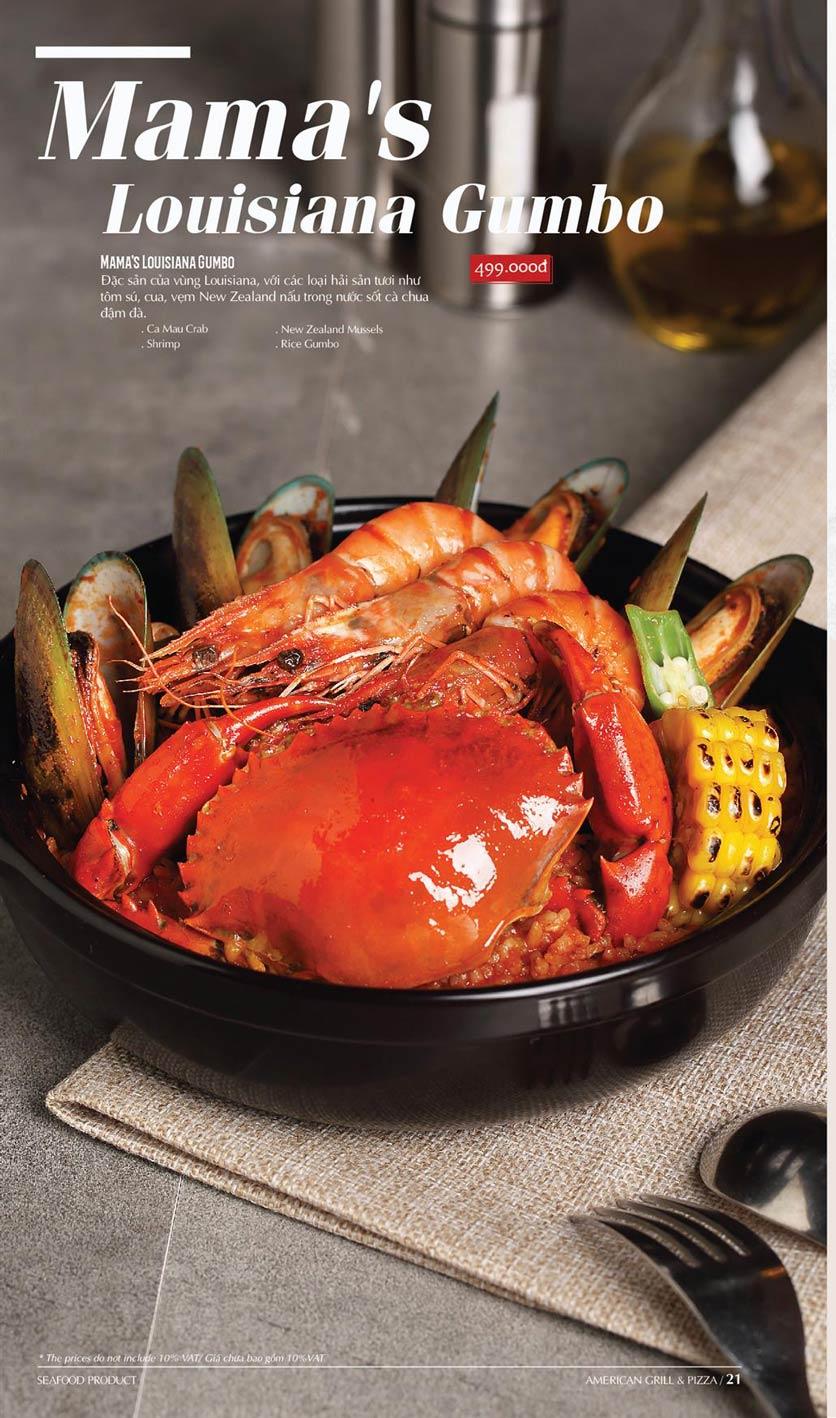 Menu Cowboy Jack's American Dining - TTTM Saigon Centre 17