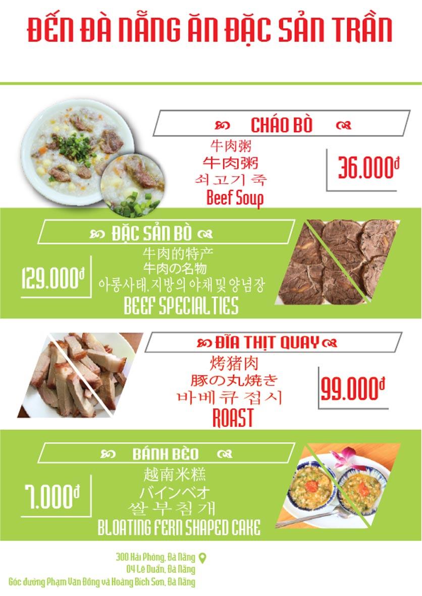 Menu Đặc Sản Trần - Phạm Văn Đồng 2