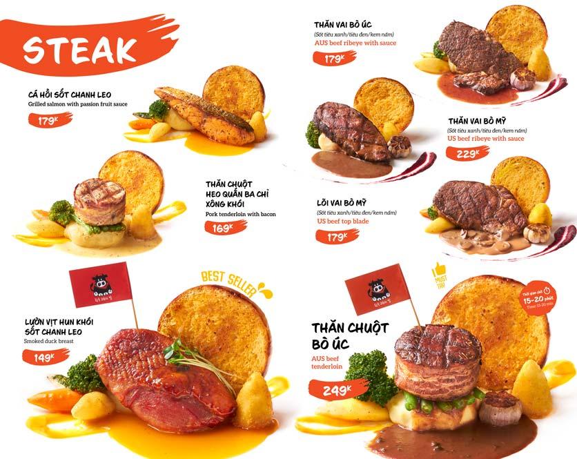Menu Gangnam Steak – Xã Đàn  3