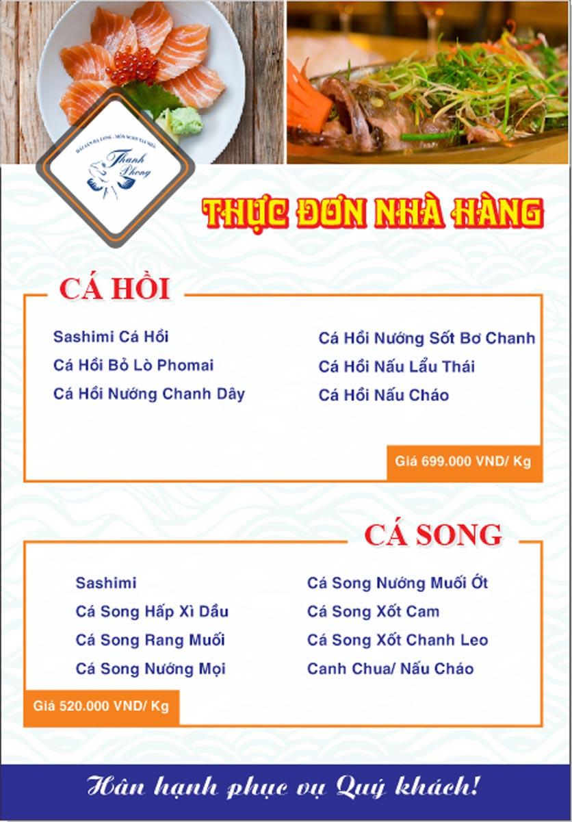 Menu Hải sản Thanh Phong - Đường K2 - Cầu Diễn   7