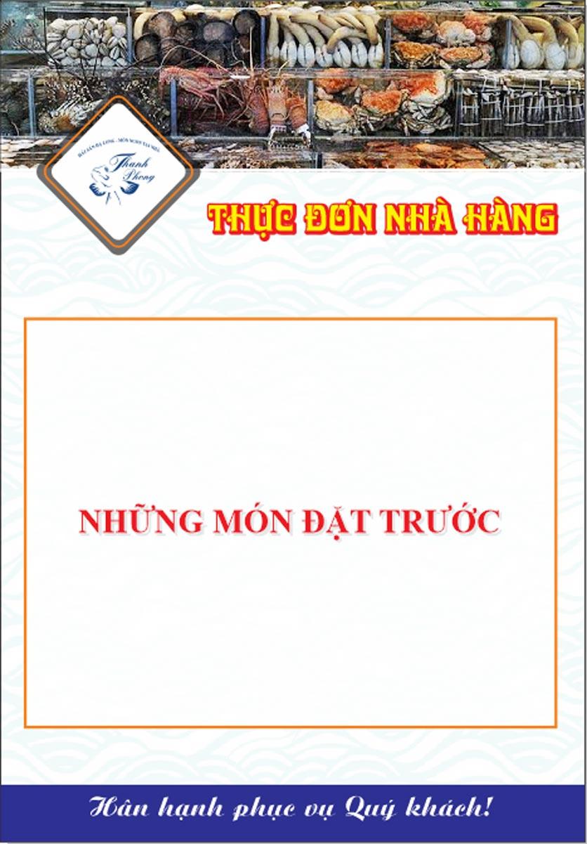 Menu Hải sản Thanh Phong - Đường K2 - Cầu Diễn   20