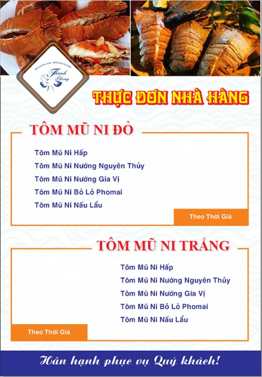 Menu Hải sản Thanh Phong - Đường K2 - Cầu Diễn   21