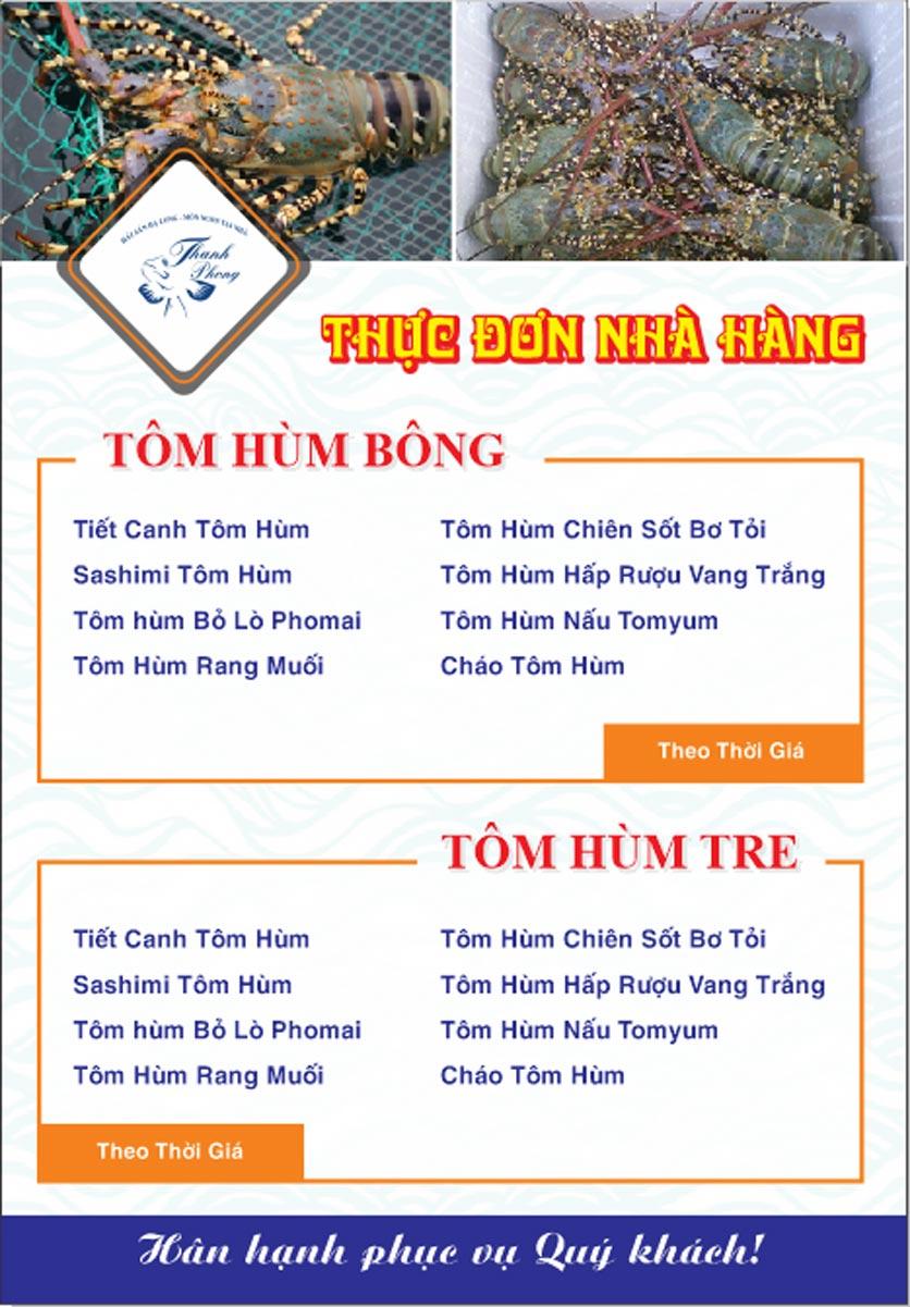 Menu Hải sản Thanh Phong - Đường K2 - Cầu Diễn   22